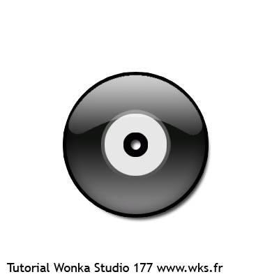 Icône disque vinyle