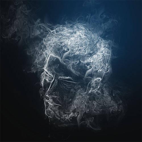 Visage en fumée