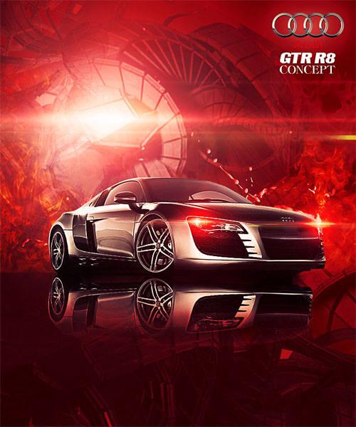 Poster Audi R8 GTR concept