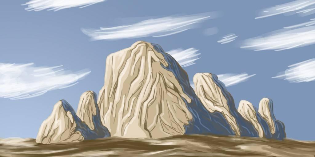 Dessiner des rochers