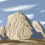 miniature Dessiner des rochers