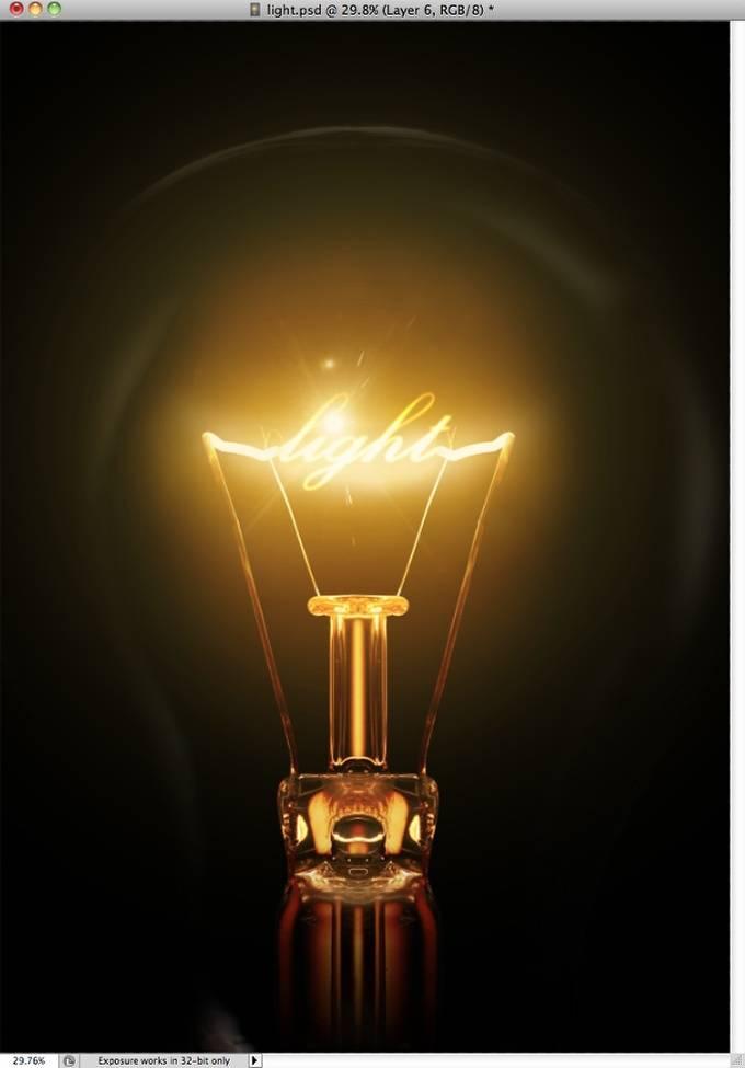 Texte d'ampoule !