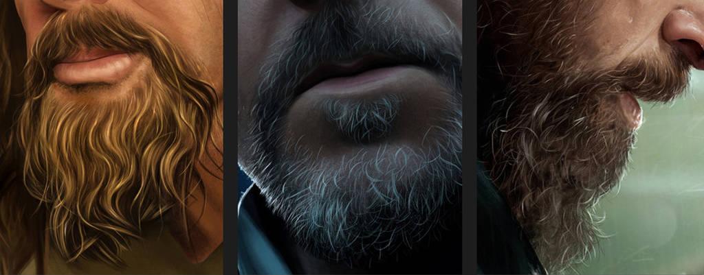 Peindre une barbe