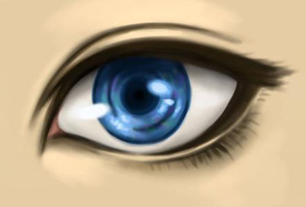 Colorier un oeil bleu