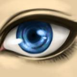 miniature Colorier un oeil bleu