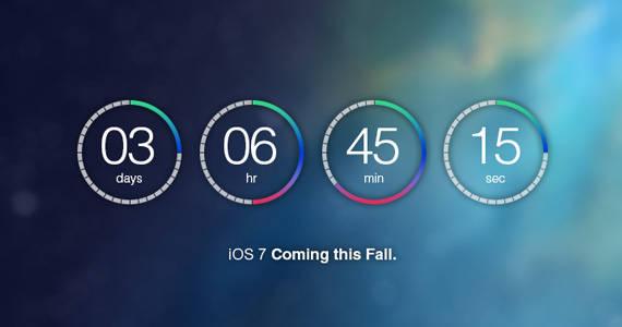Compte à rebours iOS7