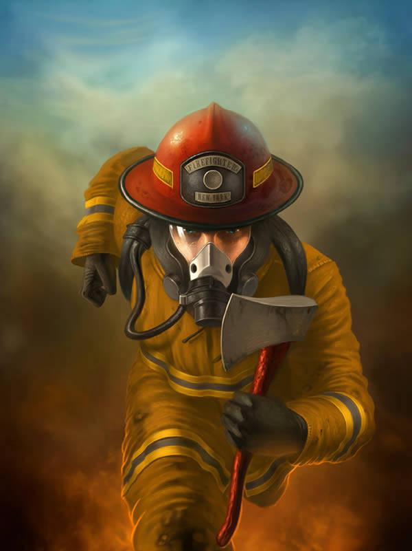 Dessiner un pompier