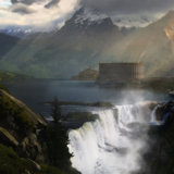 miniature Matte Painting antique