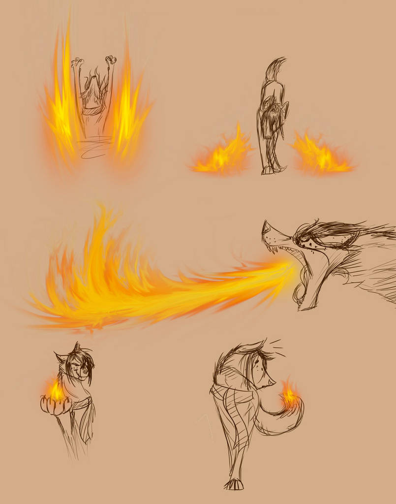 Tuto dessin flammes - Comment dessiner une bougie ...