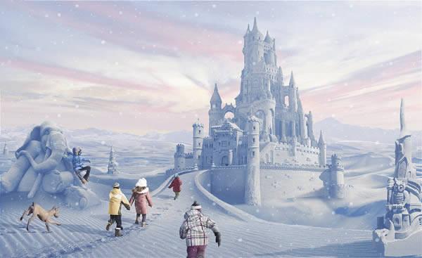 Ch teau de neige photoshop tuto for Chateau de glace reine des neiges