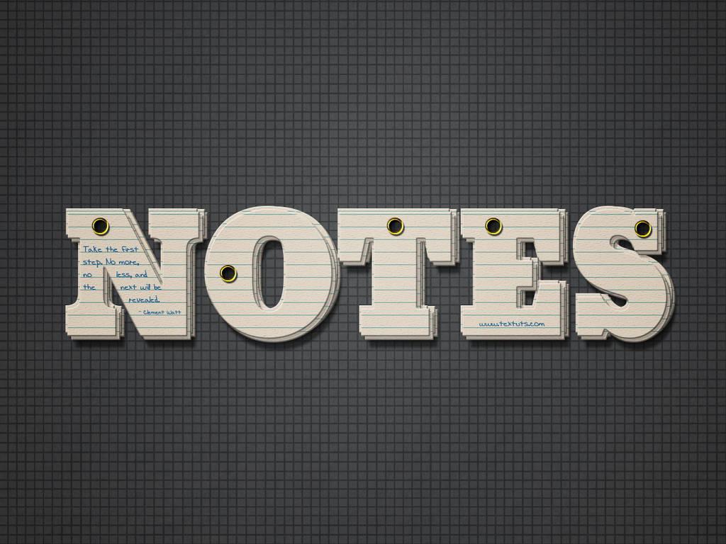 Texte bloc note