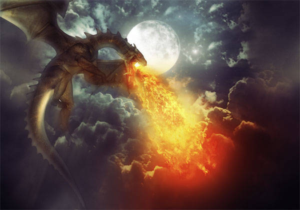 Dragon cracheur de feu