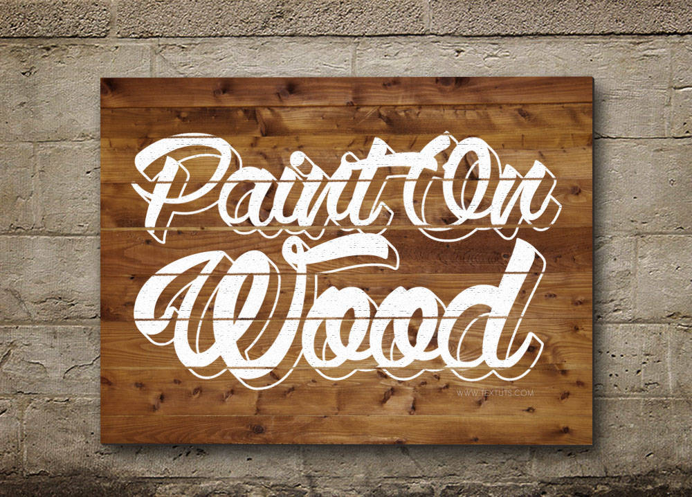 Texte pancarte en bois