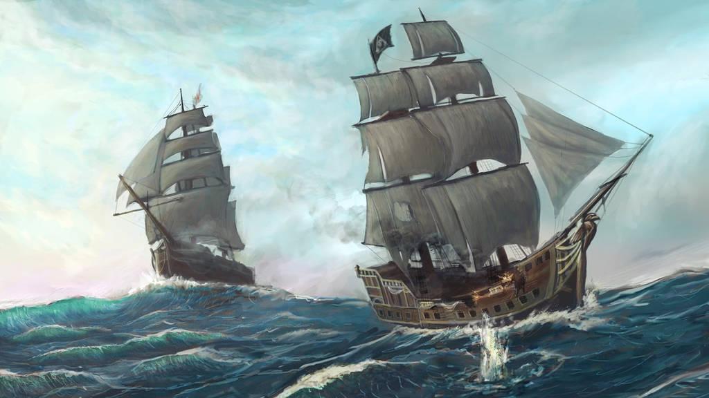 Dessiner un bateau pirate