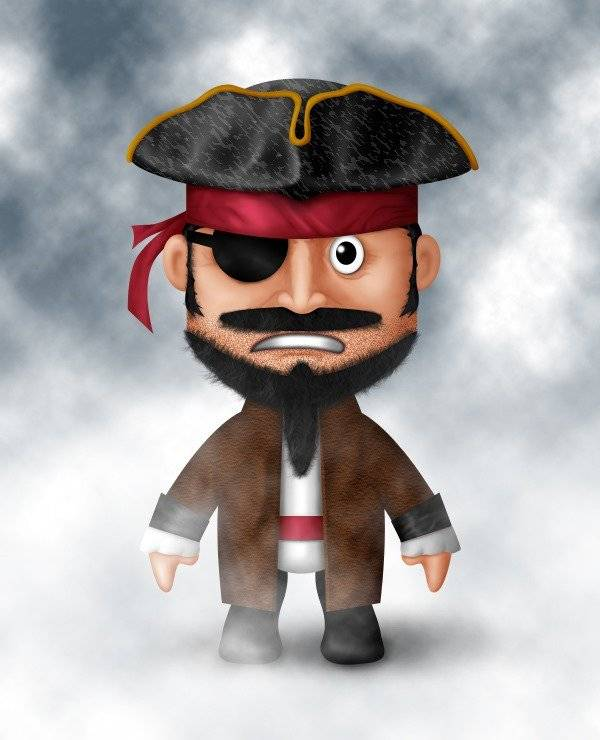 Mini pirate à grosse tête