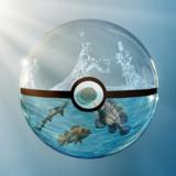 miniature Pokéball de verre