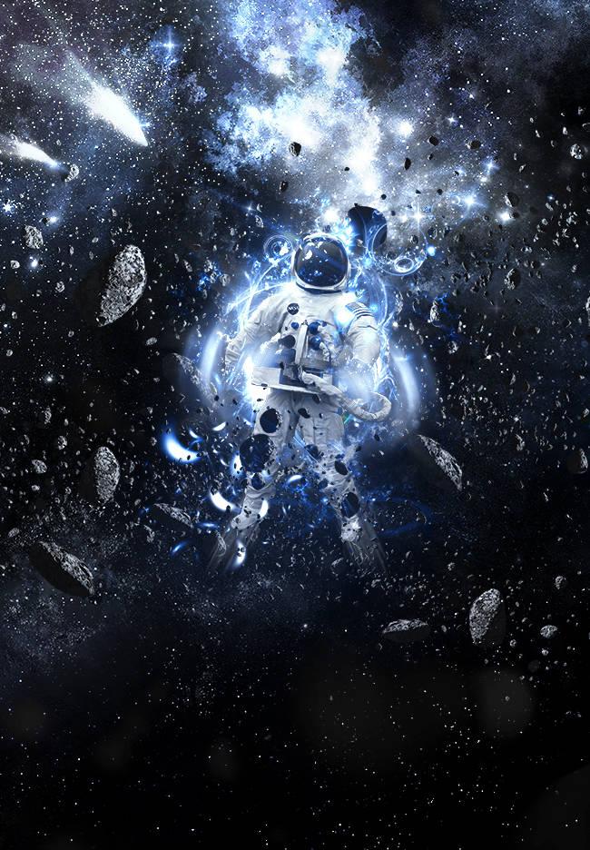 Cosmonaute perdu dans l'espace