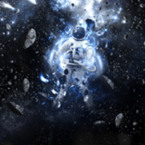 miniature Cosmonaute perdu dans l'espace