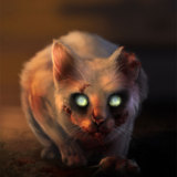 miniature Chat-zombie !