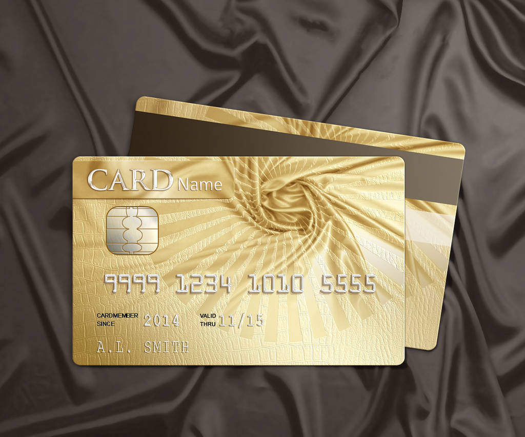 Carte Bleue Or.Carte Bancaire Gold Photoshop Tuto