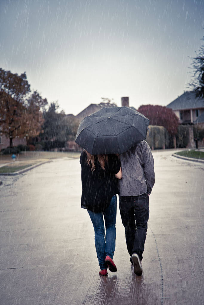 Fausse pluie sur une photo