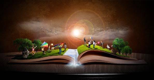 Photo Fantasy Book Cover Tutorial : Imagination photoshop tuto