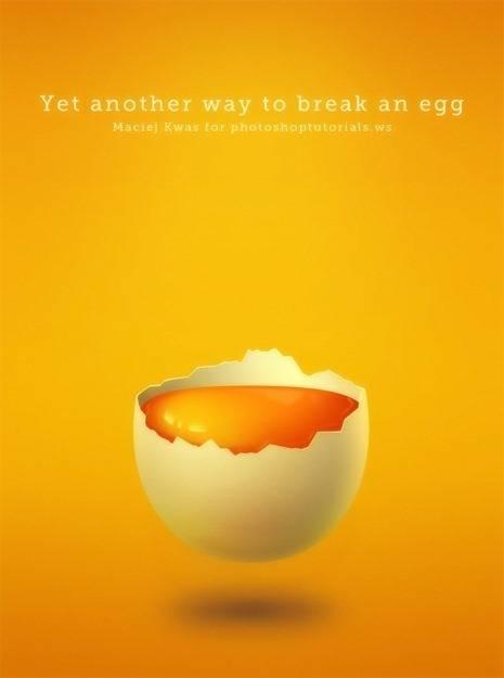 Dessiner une coquille d'œuf