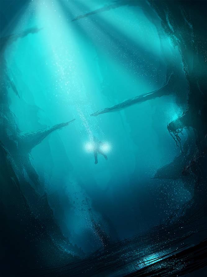 Peindre une scène sous-marine (Speed Painting)