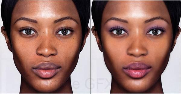 Retoucher un visage et le maquiller