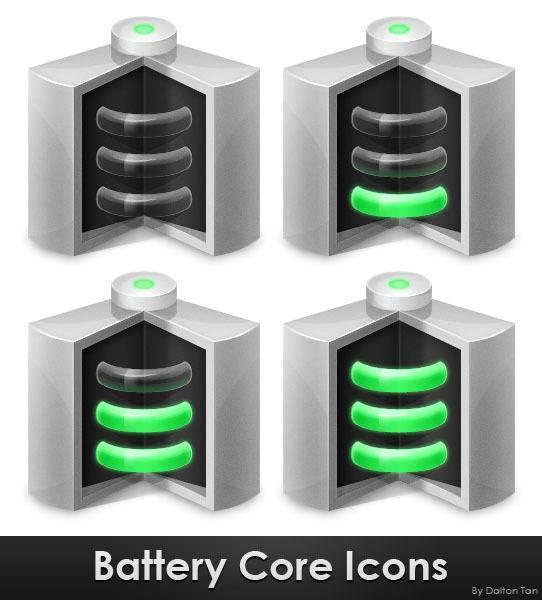 Créer une icône de batterie