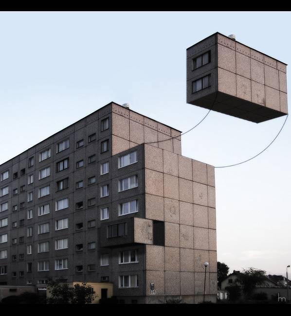Des blocs d'immeuble