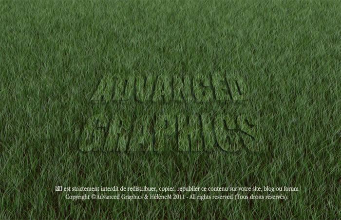 Texte écrit dans l'herbe
