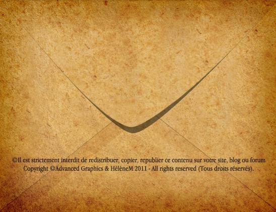 Verso d'une vieille enveloppe