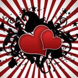miniature Carte Grunge Saint Valentin