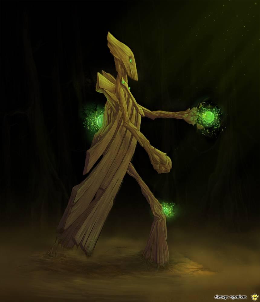 Digital painting : un arbre qui marche