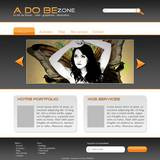 miniature Webdesign basique orange et gris