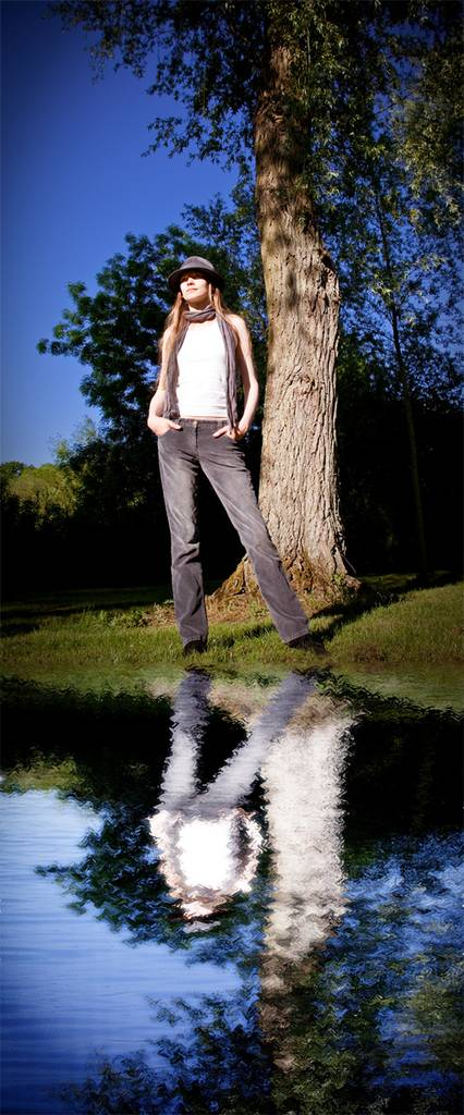 Créer une flaque d'eau et son reflet