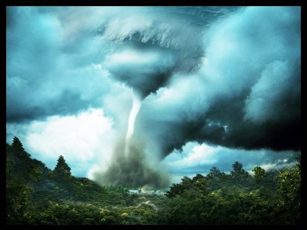 Une tornade géante