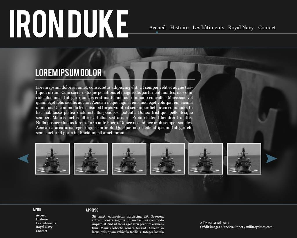 Webdesign Iron Duke