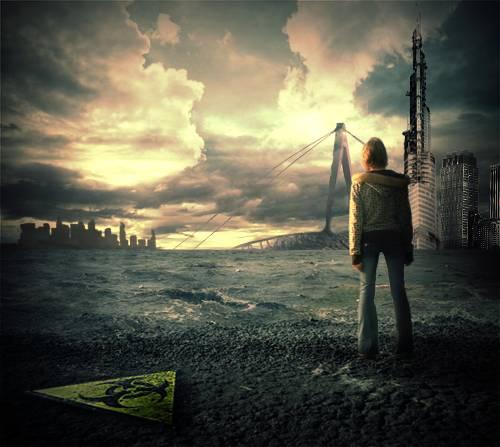 Scène post-apocalyptique