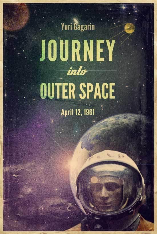 Affiche retro space 1961
