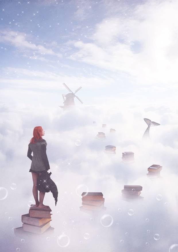 Cité magique dans les nuages