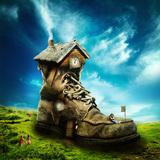 miniature Chaussure Maison Magique