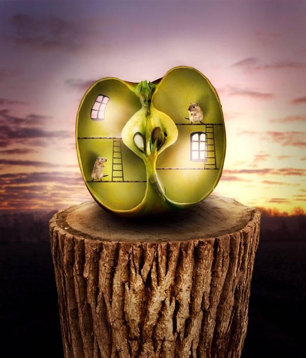Maison-pomme surnaturelle