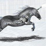 miniature Cheval mécanique