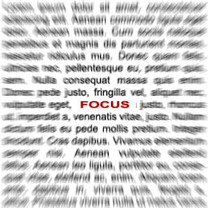 Effet focus sur du texte