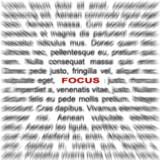 miniature Effet focus sur du texte