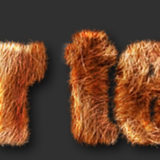 miniature Effet texte fourrure