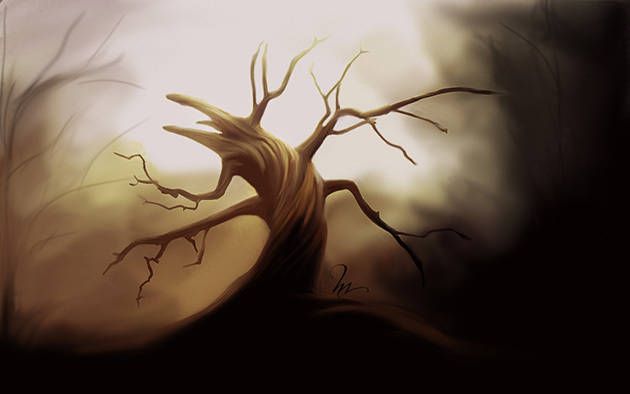Digital Painting : arbre