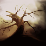 miniature Digital Painting : arbre